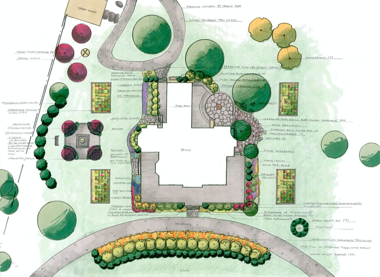 Sample of Landscape Design plan