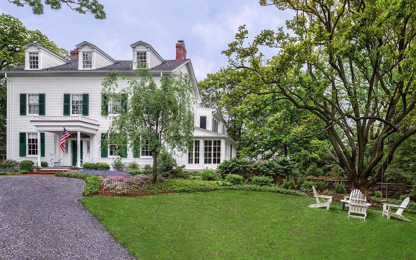 Entrance gardens to historic Maryland home