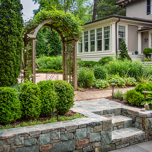 Arbor and Stone steps