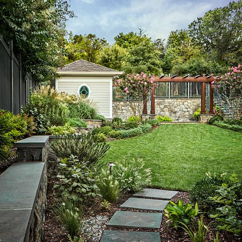 Garden entrance shed and arbor