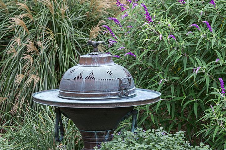 Garden sculpture detail