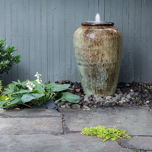 fountain in pot