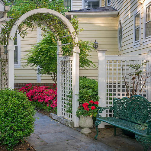Arbor and Garden Bench