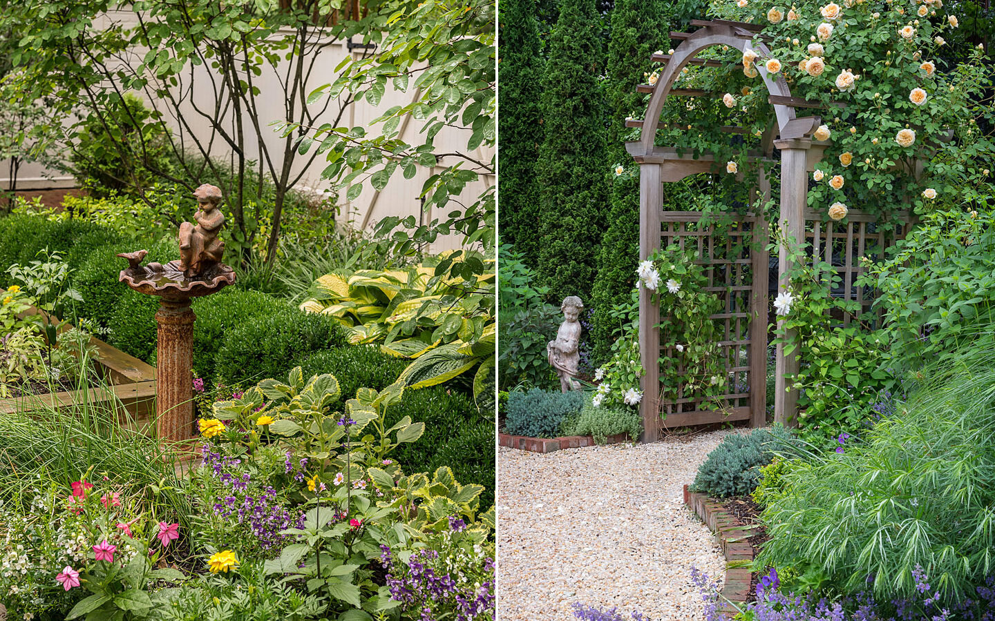 Garden plantings and details