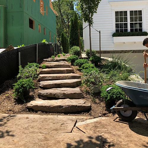installing stone steps